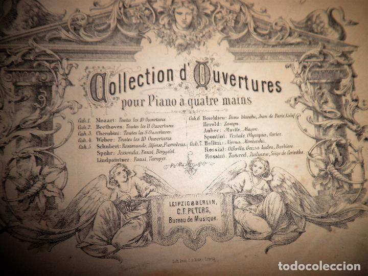 Libros antiguos: OBERTURAS DE MOZART - PARTITURAS SIGLO XIX.AÑO 1870. - Foto 3 - 222042207