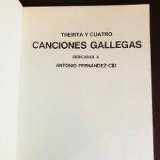 Libros antiguos: TREINTAYCUATRO CANCIÓNES GALLEGAS(30€). Lote 115939319