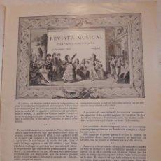 Libros antiguos: REVISTA MUSICAL HISPANO-AMERICANA. AÑO 9 N°2. FEBRERO 1917.. Lote 116343199