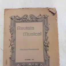 Libros antiguos: REVISTA MUSICAL HISPANO-AMERICANA. AÑO IX N°12. DICIEMBRE 1917. Lote 116445052