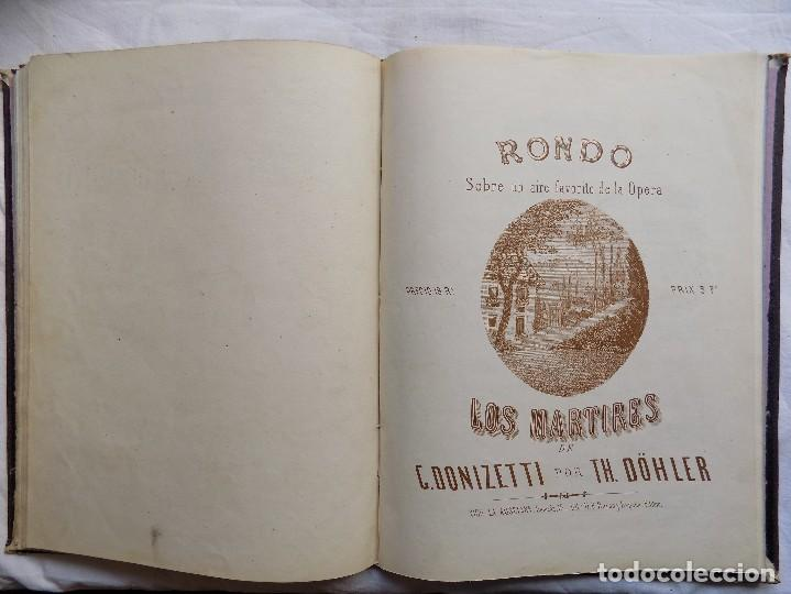Libros antiguos: LIBRERIA GHOTICA. PIEZAS PARA PIANO.VARIAS OBRAS. 1870. GRAN FOLIO.PARTITURAS GRABADAS CON PLANCHA. - Foto 6 - 117028339