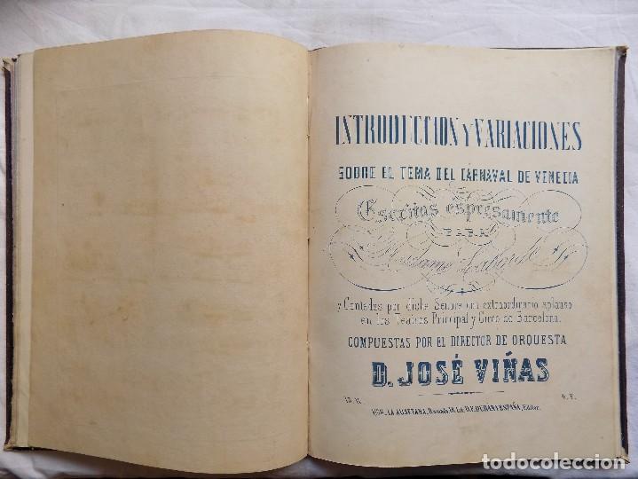 Libros antiguos: LIBRERIA GHOTICA. PIEZAS PARA PIANO.VARIAS OBRAS. 1870. GRAN FOLIO.PARTITURAS GRABADAS CON PLANCHA. - Foto 7 - 117028339