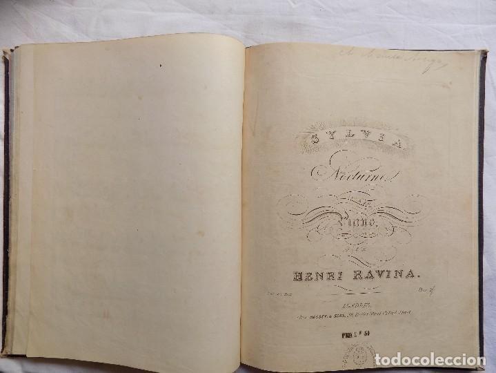 Libros antiguos: LIBRERIA GHOTICA. PIEZAS PARA PIANO.VARIAS OBRAS. 1870. GRAN FOLIO.PARTITURAS GRABADAS CON PLANCHA. - Foto 8 - 117028339