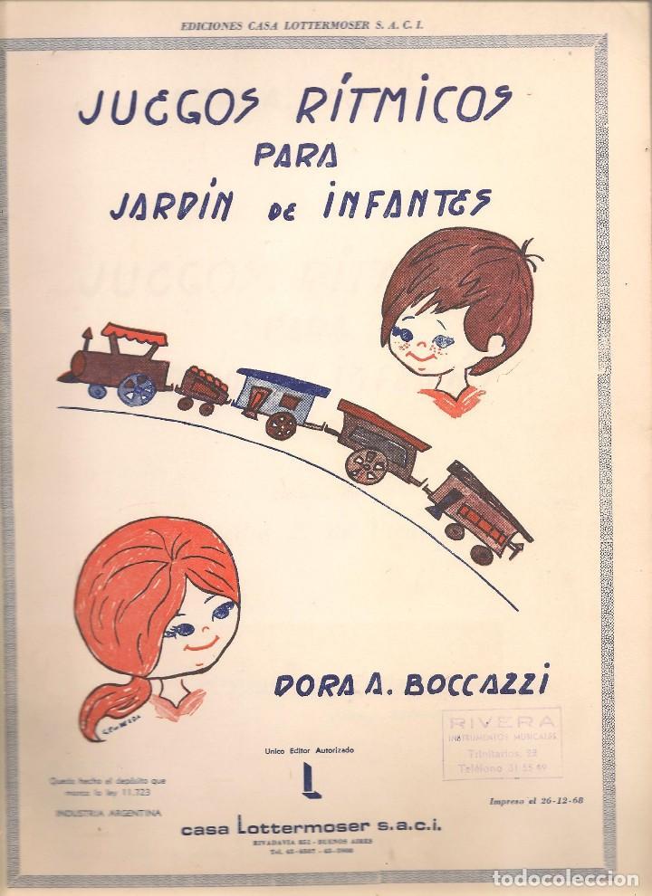 DORA BOCCAZZI ,Música ,JUEGOS RITMICOS PARA JARDIN DE INFANTES dibujos  CECILIA P. DE UTEDA