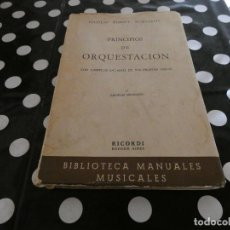 Libros antiguos: PRINCIPIOS DE ORQUESTACION RIMSI-KORSAKOV, ANTIGUO LIBRO AÑOS 30-40. Lote 117280587