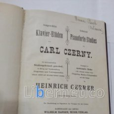 Libros antiguos: SELECTED PIANOFORTE STUDIES BY CARL CZERNY. NEW-YORK 1888. Lote 118285079
