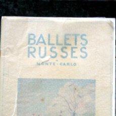 Libros antiguos: BALLETS RUSSES DE MONTE - CARLO - W. DE BASIL - 1934 - JOAN MIRO . Lote 120686111