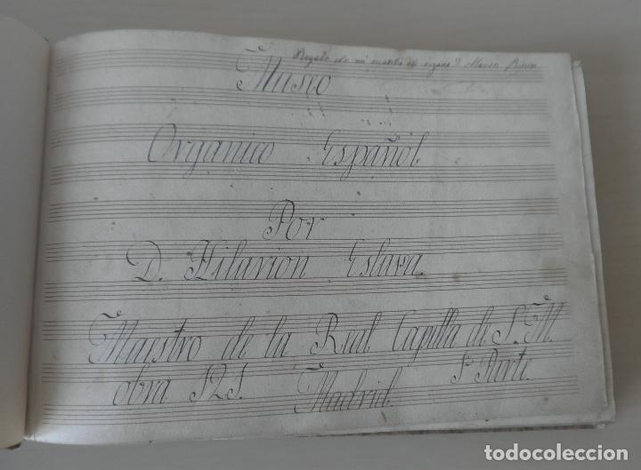 Libros antiguos: MUSEO ORGANICO ESPAÑOL POR D.HILARION ESLAVA - MANUSCRITO SIGLO XIX - EXCEPCIONAL. - Foto 2 - 122759243