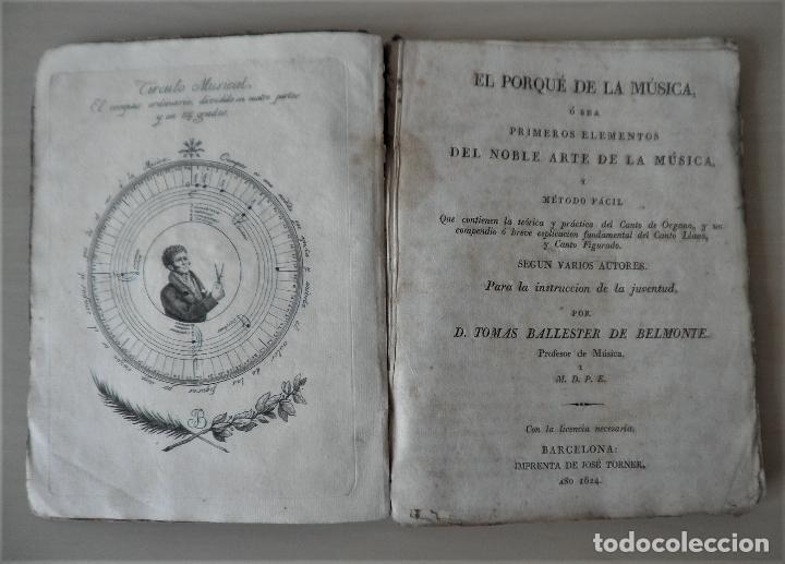 NOBLE ARTE DE LA MUSICA·CANTO LLANO - AÑO 1824 - T.BALLESTER - ILUSTRADO. (Libros Antiguos, Raros y Curiosos - Bellas artes, ocio y coleccion - Música)