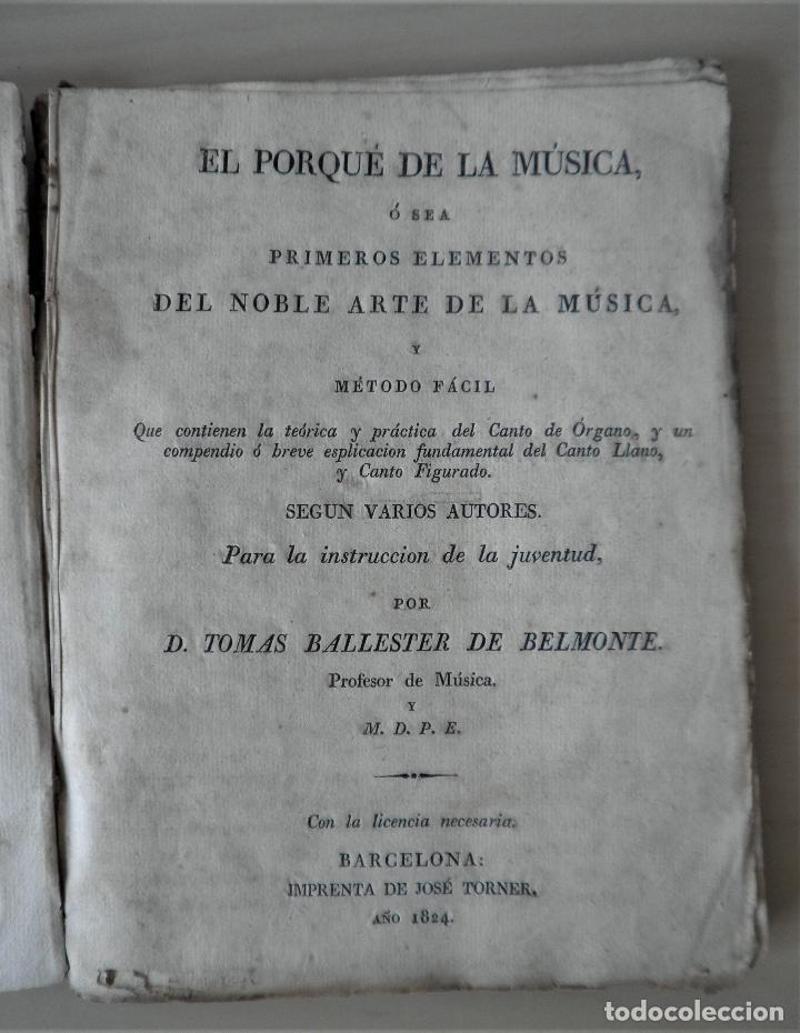 Libros antiguos: NOBLE ARTE DE LA MUSICA·CANTO LLANO - AÑO 1824 - T.BALLESTER - ILUSTRADO. - Foto 4 - 122760759