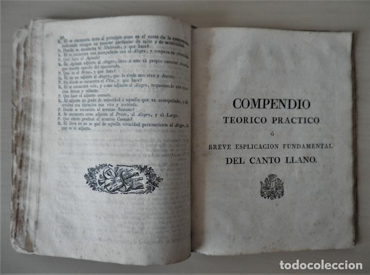 Libros antiguos: NOBLE ARTE DE LA MUSICA·CANTO LLANO - AÑO 1824 - T.BALLESTER - ILUSTRADO. - Foto 10 - 122760759