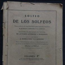 Libros antiguos: SOLFEO DE LOS SOLFEOS, PARA VOCES SOPRANO, DE ENRIQUE LEMOINE Y G. CARULLI. Lote 124504615