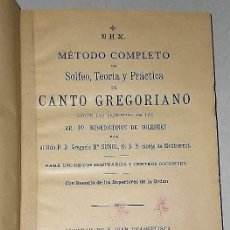 Libros antiguos: TRATADO DE CANTO GREGORIANO(1905) + TEORÍA MUSICAL EN PREGUNTAS Y RESPUESTAS.. Lote 124685203