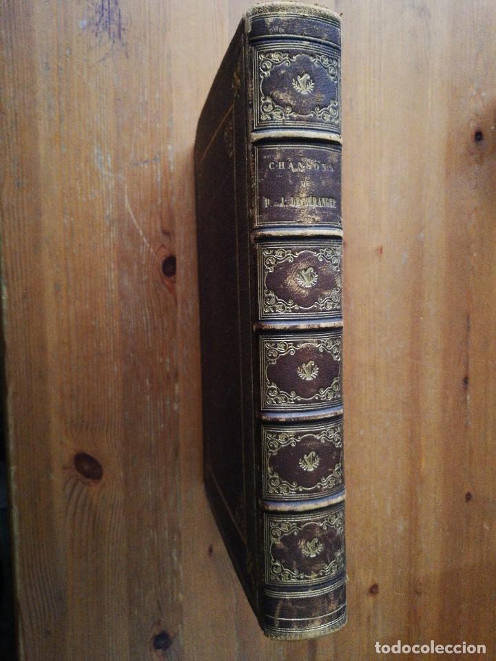 Libros antiguos: Chansons. P-J de Beranger. 1866. - Foto 4 - 125262539