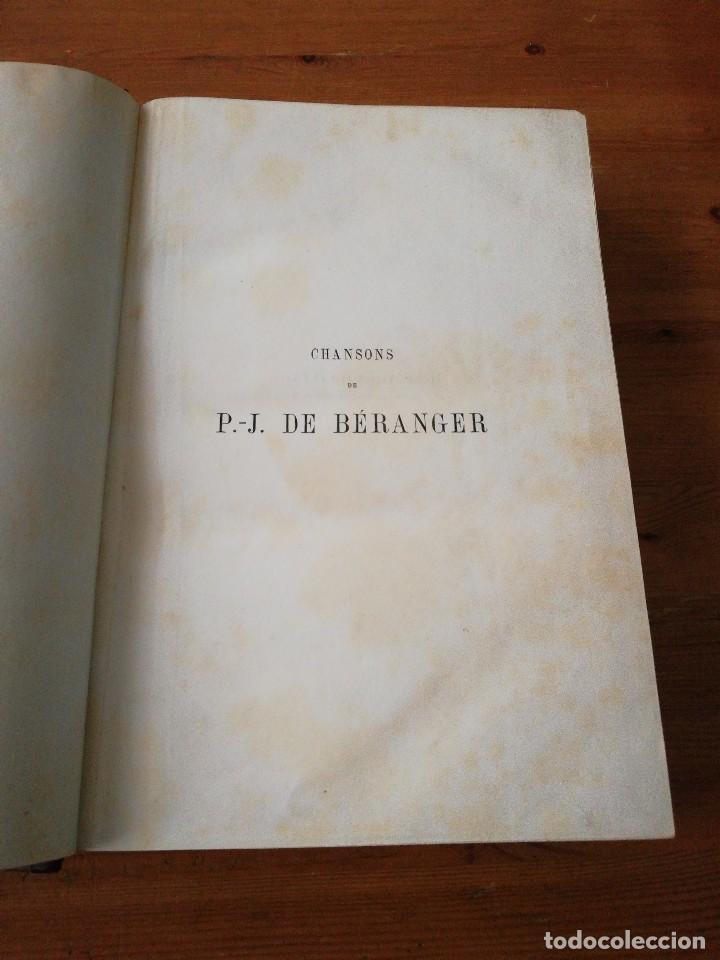 Libros antiguos: Chansons. P-J de Beranger. 1866. - Foto 6 - 125262539