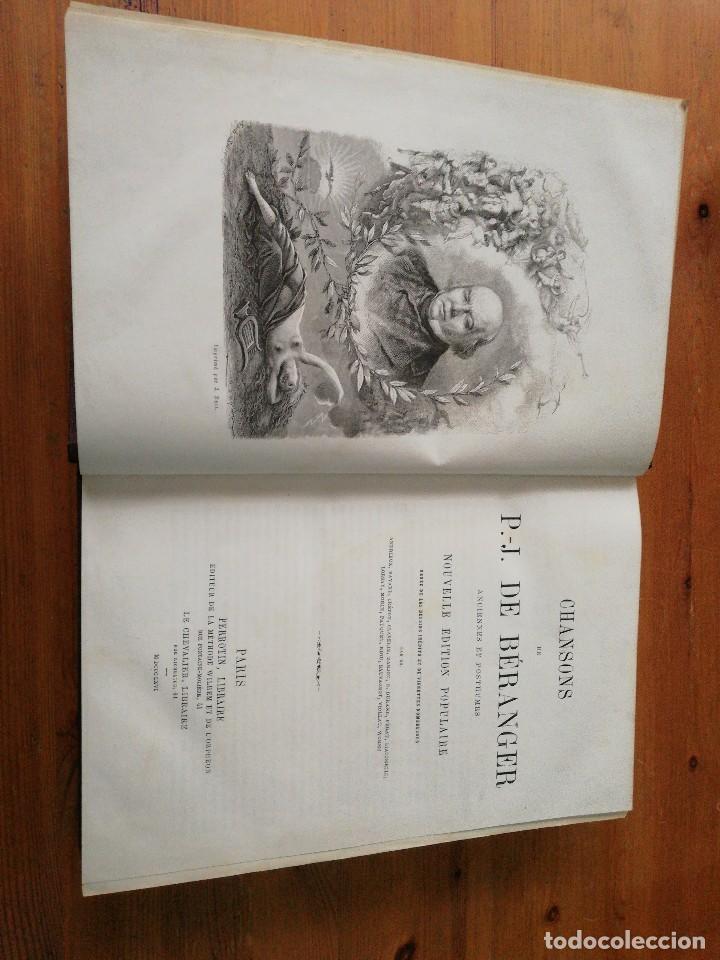 Libros antiguos: Chansons. P-J de Beranger. 1866. - Foto 7 - 125262539
