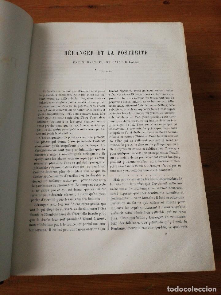 Libros antiguos: Chansons. P-J de Beranger. 1866. - Foto 8 - 125262539