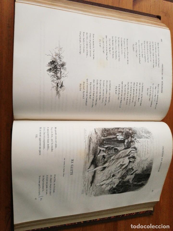 Libros antiguos: Chansons. P-J de Beranger. 1866. - Foto 13 - 125262539