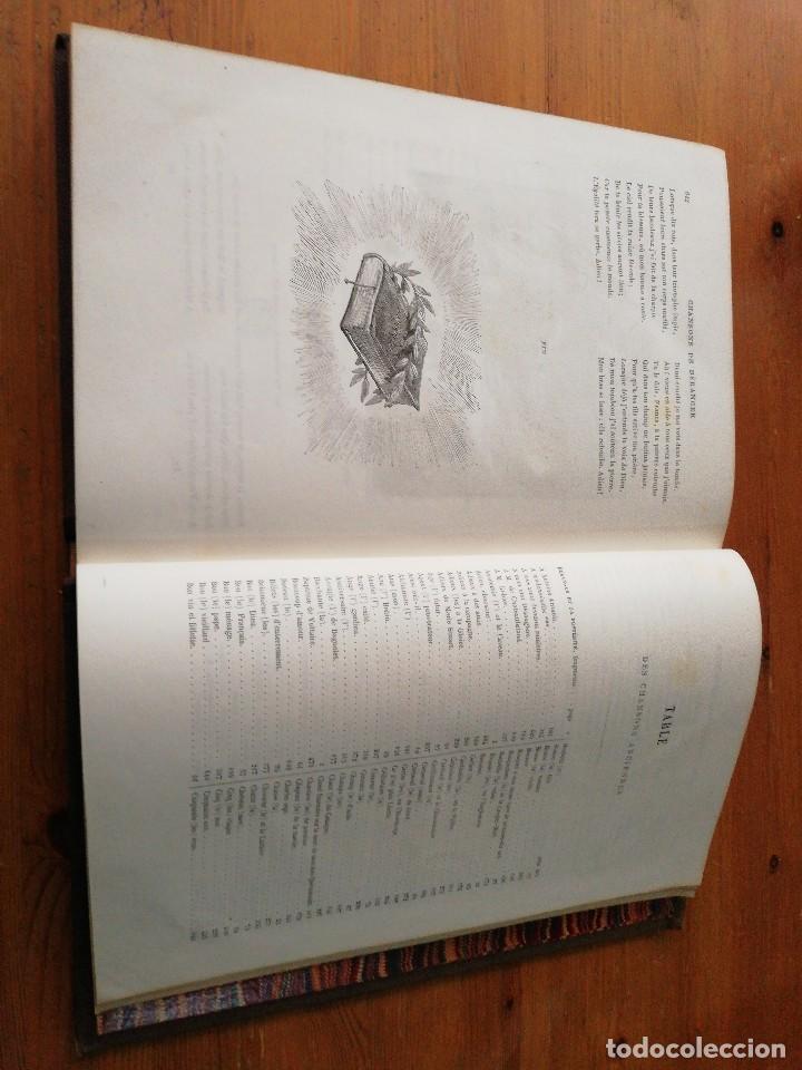 Libros antiguos: Chansons. P-J de Beranger. 1866. - Foto 14 - 125262539