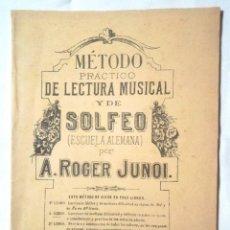 Libros antiguos: MÉTODO PRÁCTICO DE LECTURA MUSICAL Y DE SOLFEO (ESCUELA ALEMANA) POR A ROGER JUNOI LIBRO 2º ILDEFONS. Lote 126168587