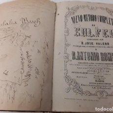 Libros antiguos: LIBRO NUEVO MÉTODO COMPLETO DE SOLFEO. Lote 126194675