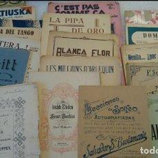 Libros antiguos: LOTE 17 PARTITURAS Y LIBROS MUSICA. Lote 126396943