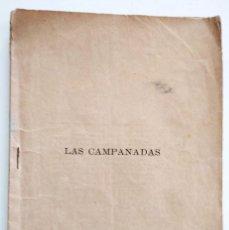 Libros antiguos: LAS CAMPANADAS, ZARZUELA CÓMICA - CARLOS ARNICHES Y GONZALO CANTÓ - MÚSICA CHAPÍ - AÑO 1892. Lote 126469423