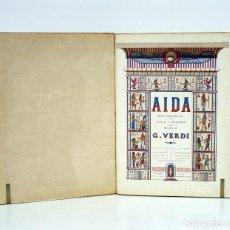 Livres anciens: AIDA.OPERA IN QUATTRO ATTI. MUSICA DI G. VERDI. VERSI DI A. GHISLANZONI. MILANO, ED. RICORDI H. 1890. Lote 127820388