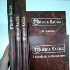Libros antiguos: MÚSICA SACRA ALTAYA. 5 TOMOS + 75 CDS. COMPLETA. HISTORIA MÚSICA + REGALO MALETÍN PARA CDS. Lote 128084031