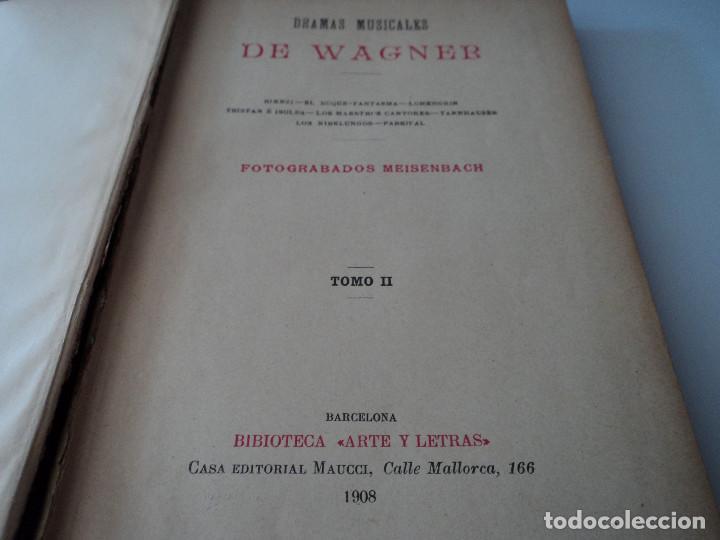 Libros antiguos: DRAMAS MUSICALES DE WAGNER, TOMO II, 1908 - Foto 2 - 128439931