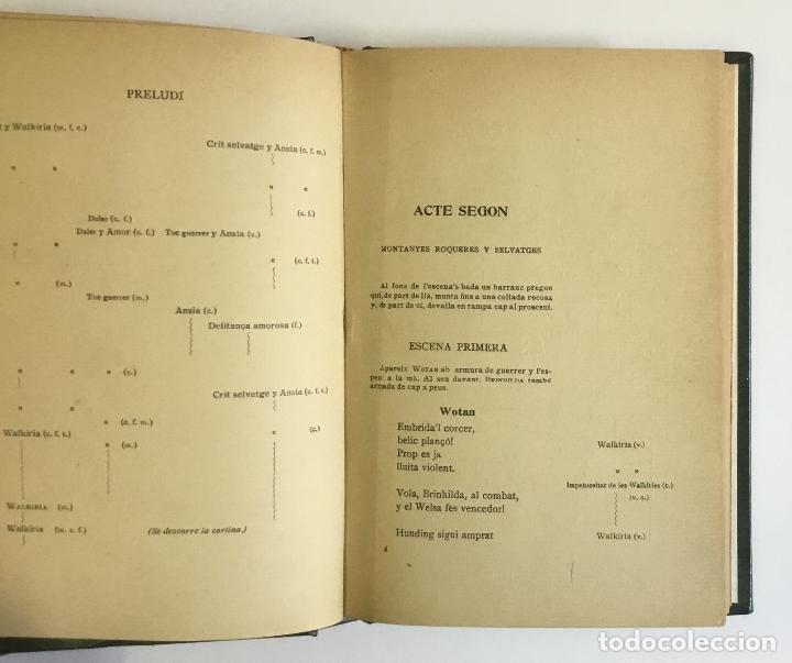Libros antiguos: LA WALKÍRIA. Primera jornada de la tetralogia Lanell del Nibelung. - WAGNER, Richard. - Foto 3 - 142531582
