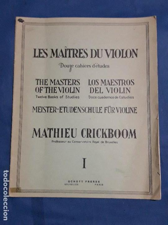 LOS MAESTROS DEL VIOLIN 1924 (Libros Antiguos, Raros y Curiosos - Bellas artes, ocio y coleccion - Música)
