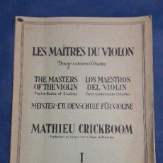 Libros antiguos: LOS MAESTROS DEL VIOLIN 1924. Lote 128816851