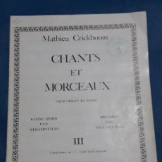 Libros antiguos: LIBRETO PARTITURA VIOLIN Y PIANO 3 CUADERNO . Lote 128819483