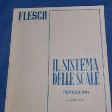 Libros antiguos: ESTUDIO PARA VIOLIN FLESCH EDICION CURCI-MILANO. Lote 128820663