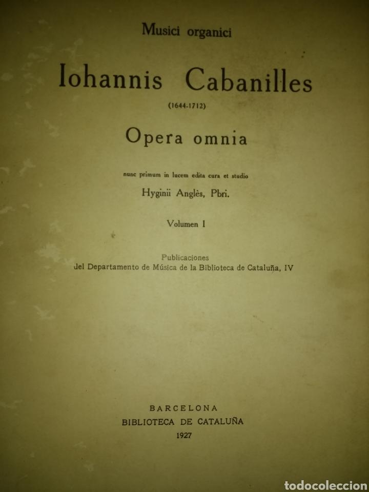 MUSICI ORGANICI IOHANNIS CABANILLES (1644-1712). OPERA OMNIA. VOLUMEN I. BARCELONA BIBLIA DE CATALUÑ (Libros Antiguos, Raros y Curiosos - Bellas artes, ocio y coleccion - Música)