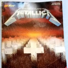 Libros antiguos: METALLICA; MASTER OF PUPPETS - AUTHORIZED EDITION GUITAR - GUITAR/VOCAL WITH TABLATURE - 1988. Lote 131104944