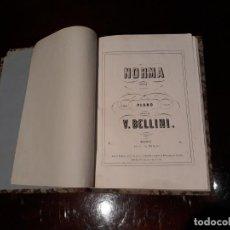 Libros antiguos: NORMA - BELLINI . OPERA COMPLETA PARA PIANO . EDITOR B.ESLAVA . Lote 134075470