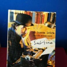 Libros antiguos: CON BUENA LETRA - JOAQUÍN SABINA - EDICIÓN ACTUALIZADA 2007. Lote 134408439