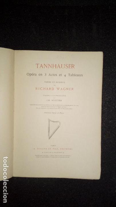 Libros antiguos: Partitura para Canto y Piano de Tannhauser. Musica. - Foto 2 - 136773202