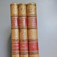 Libros antiguos: BERANGER. CANCIONES Y BIOGRAFÍA EN 3 TOMOS. AÑO 1859. MÁS DE 50 GRABADOS, CON CARTA DE BERENGER. Lote 136816942