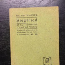 Libros antiguos: SIEGFRIED, WAGNER, RICART, 1904. Lote 138847390