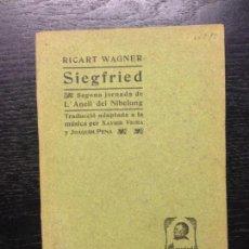Libros antiguos: SIEGFRIED, WAGNER, RICART, 1904. Lote 138847390