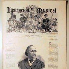 Libros antiguos: ILUSTRACIÓN MUSICAL HISPANO-AMERICANA. AÑO I. NÚMERO 11 - 30 JUNIO - BARCELONA 1888. Lote 139151226