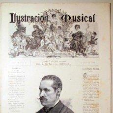 Libros antiguos: ILUSTRACIÓN MUSICAL HISPANO-AMERICANA. AÑO I. NÚMERO 13 - 30 JULIO - BARCELONA 1888. Lote 139151234