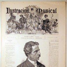 Libros antiguos: ILUSTRACIÓN MUSICAL HISPANO-AMERICANA. AÑO I. NÚMERO 16 - 15 SETIEMBRE - BARCELONA 1888. Lote 139151250