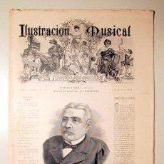 Libros antiguos: ILUSTRACIÓN MUSICAL HISPANO-AMERICANA. AÑO I. NÚMERO 18 - 15 OCTUBRE - BARCELONA 1888. Lote 139151258