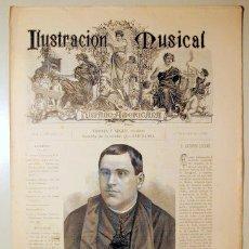 Libros antiguos: ILUSTRACIÓN MUSICAL HISPANO-AMERICANA. AÑO I. NÚMERO 19 - 30 OCTUBRE - BARCELONA 1888. Lote 139151262