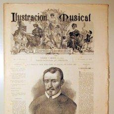 Libros antiguos: ILUSTRACIÓN MUSICAL HISPANO-AMERICANA. AÑO I. NÚMERO 21 - 30 NOVIEMBRE - BARCELONA 1888. Lote 139151270