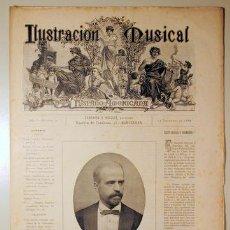 Libros antiguos: ILUSTRACIÓN MUSICAL HISPANO-AMERICANA. AÑO I. NÚMERO 21 - 15 DICIEMBRE - BARCELONA 1888. Lote 139151274